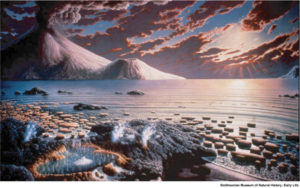 Earth 3 billion years ago (Smithsonian Museum mural)