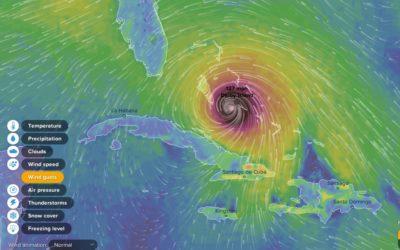 Hurricane Matthew pummels the Exuma Cays, October 2016